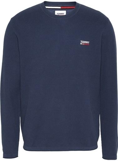 Tommy Hilfiger Erkek Tjm Corp Logo Sweater Kazak DM0DM09468 Lacivert